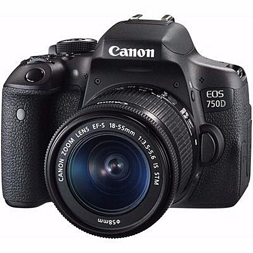 EOS 750D DSLR Camera With 18-55mm IS STM Lens Kit - Black