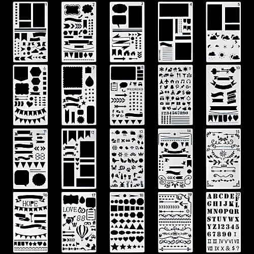 Plastic Planner Stencils Journal Notebook Diary Scrapbook DIY Drawing Template