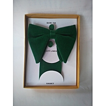 9dca8eaa634d Butterfly Shaped Bow-Tie, Cufflinks And Pocket Square - Dark Green