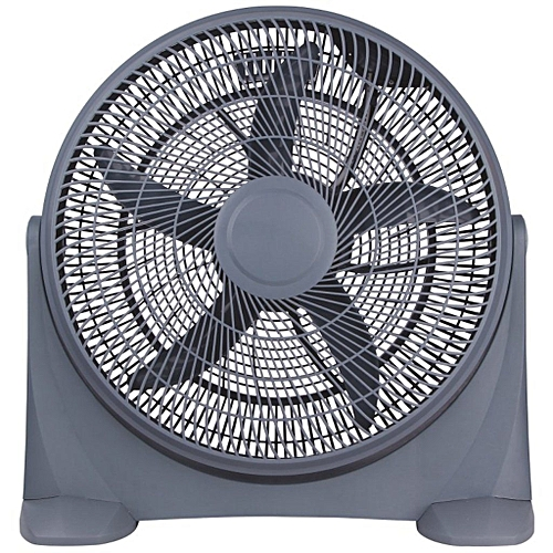 """12""""Box Fan BF-2089-white, With 80 Degree Oscillation"""
