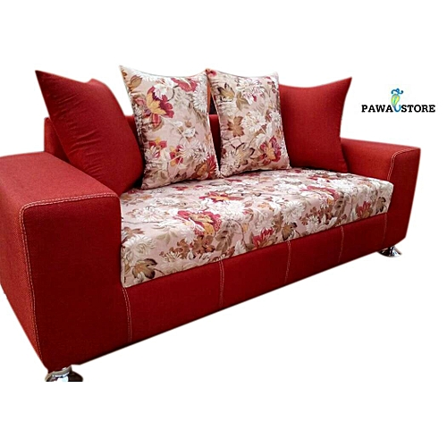Deep Orange 7 Seater Sofa. 'ORDER NOW AND GET A FREE OTTOMAN' (Delivery To Lagos Only)