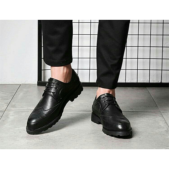 367857b1bdde4 Fashion Men s Brogue Shoes - Black