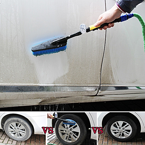 Xiuxingzi_Dtrestocy Car Wash Brush Hose Adapter Vehicle Truck Cleaning Water Spray Nozzle Car Care