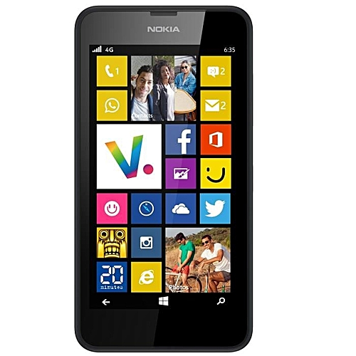 "(BLACK)Nokia Lumia 635 Windows Phone 4.5"" Quad Core 1.2GHz 8G ROM 5.0MP WIFI GPS 4G LTE Smartphone"