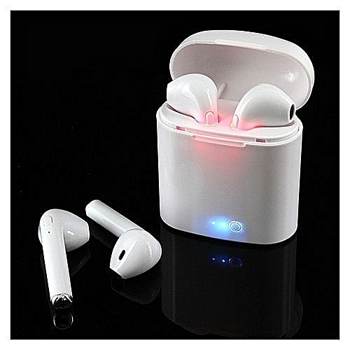 I7s TWS True Mini Wireless Headphones Bluetooth Earbuds Wireless Earphone Hands Free Noise Cancelling In Ear Headset Airpods With Portable Wireless Charging Case For IPhone Samsung LG Android Phones Tablet PC - White