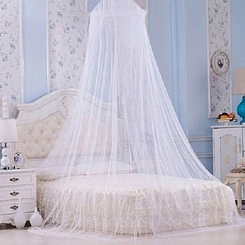 Mosquito Net - Circular Canopy Net With Ring - White