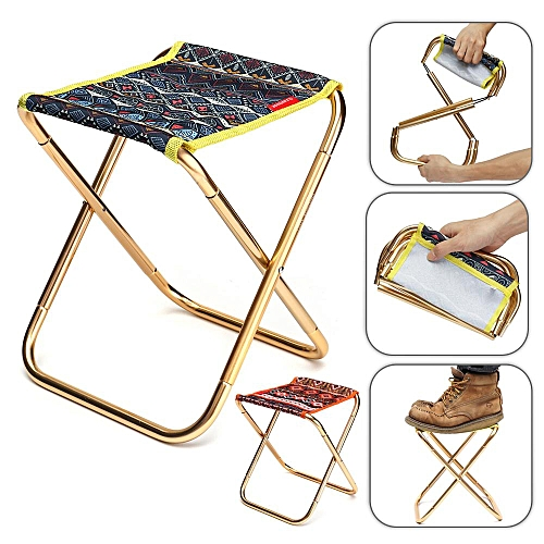 Portable Aluminum Folding Chair Stool Seat With Storage Bag Outdoor Picnic Beach