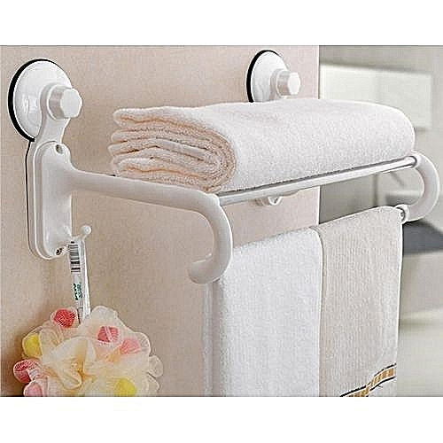 Towel Rack And Sponge Holder With Suction Cup