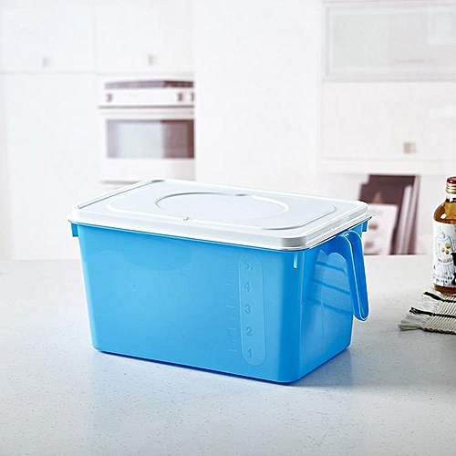 Can Be Stacked Kitchen Sealed With A Handle Plastic Storage Tank Refrigerator Cabinet With A Lid Storage Tank