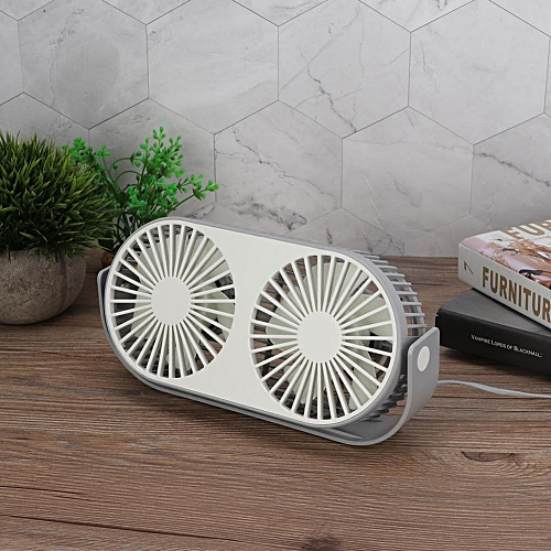 1Pc Portable Mini Aromatherapy USB Charging Handheld Fans Double Fan Blade