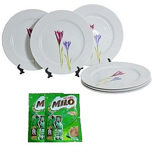 Premium 6Pcs Dinner Plate Set - Pastoral