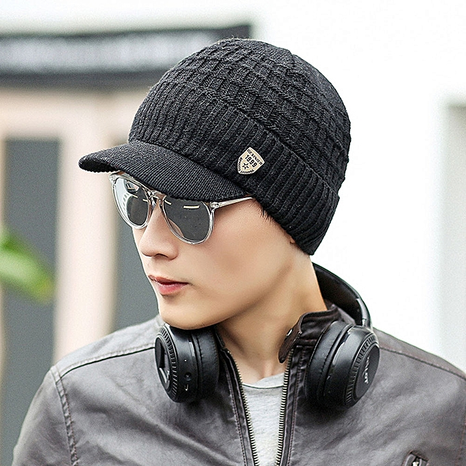 Fashion Tectores Fashion Trend Men Warm Baggy Weave Crochet Winter Wool  Knit Ski Beanie Caps Hat  3d91caf7ef0