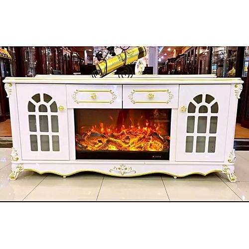 CREAM FIRE-PLATE TV CONSOLE/CABINET