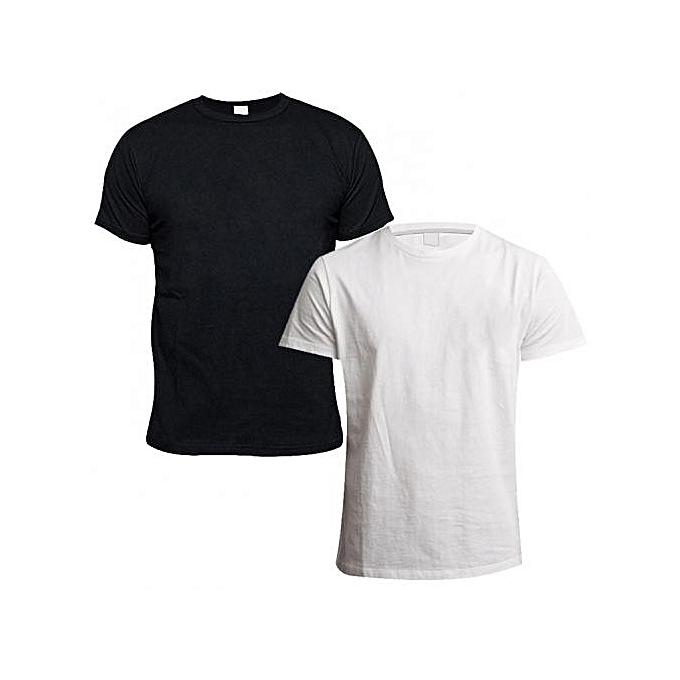3385440d26aae6 Fashion Plain TShirt Bundle - White   Black