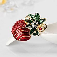 Bodhi@Fashion Christmas Fruit Apples Shape Brooch Pin Women Dress Bag Scarf Accessory-Multicolor