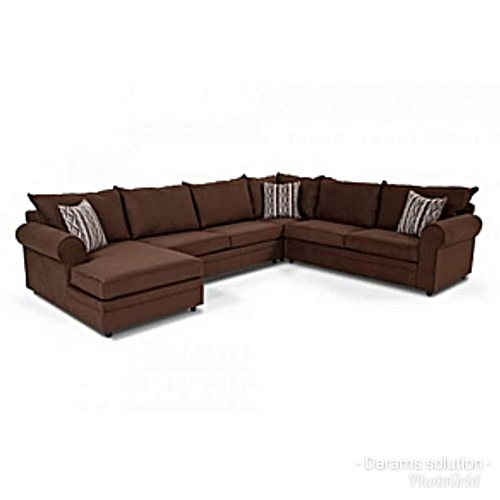 Exclusive Brown Curved Seater Sofa(Lagos Only)