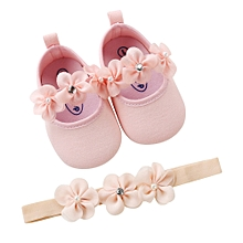 3d92ddd7bac4c Fantynes Kids Baby Shoes Baby Hairband Girl Shoe Casual Sneaker Anti-slip  Soft Sole Toddler