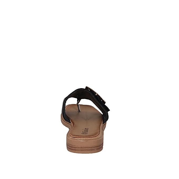 14383611f954e Fashion Ladies Belt Buckle Slippers - Black