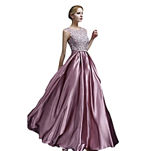 Luxury Lady Women Sleeveless Lace Long Maxi Dresses European Style Female Full Gown Cocktail Club Party Evening Wedding Dresses (Color:c0)