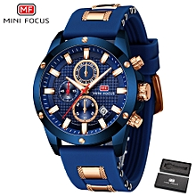 Top Luxury Brand Watch Famous Fashion Sports Cool Men Quartz Watches Waterproof Wristwatch For Male Blue