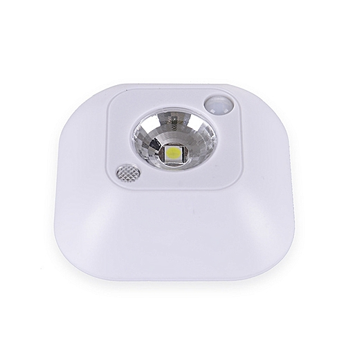 LED Motion Sensor Night Light, Mini Wireless Ceiling Night Lamp, Battery Powered Porch Cabinet Lamps With Infrared Motion Sensor + Light Control Color:White Power:One Point Five