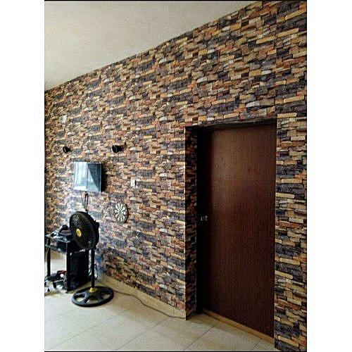 Brick Wallpaper Multicoloured