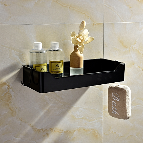 Corner Shelf Caddy Bathing Platform With Hooks Wall Nail Storage With Free Glue For Bathroom,SBH190B