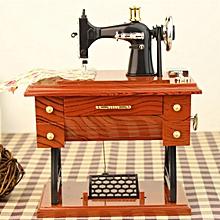 Retro Sewing Machine Musical Box Treadle Vintage Clockwork Style Home Gift Decor for sale  Nigeria