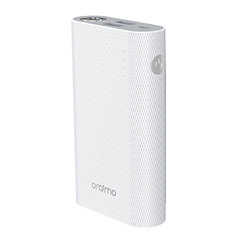 Power Bank 6000mAh Fast Charge With Torch PB-60AR - White