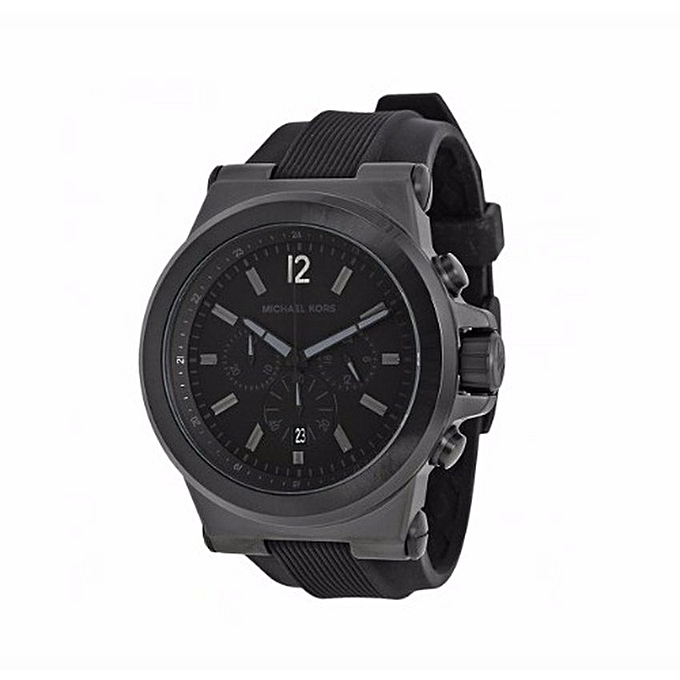 4134ad1a500ee Michael Kors Dylan Black Silicon Strap Men s Watch