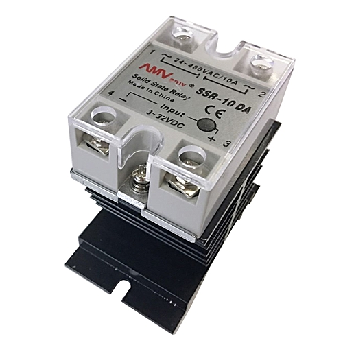 SSR-25 DA 10A 3-32V DC / 24-380V AC Solid State Relay And Heat Sink