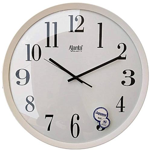 Ajanta Analog Wall Clock (white)