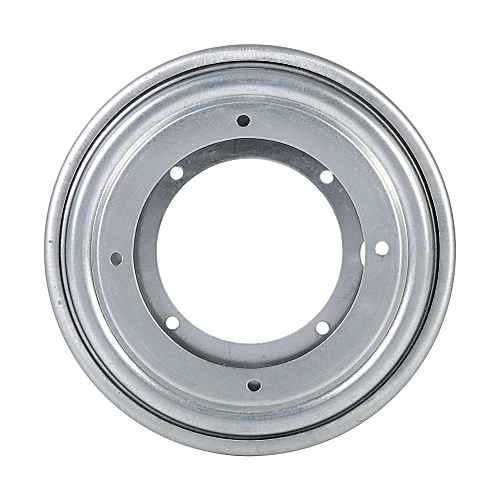 "Galvanized Lazy Susan Round Turntable Plate (5.5"" Silver)"