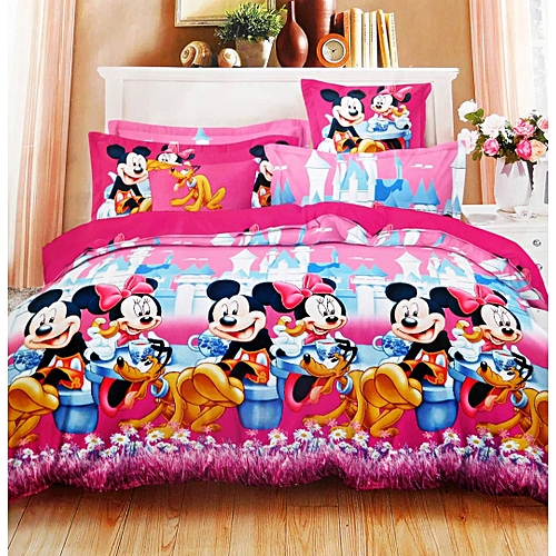 Mickey Mouse And Minnie Cartoon Character Bedsheet