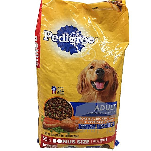 Adult Complete Nutrition Roasted Chicken, Rice And Vegetables Dry Dog Food (55lbs)