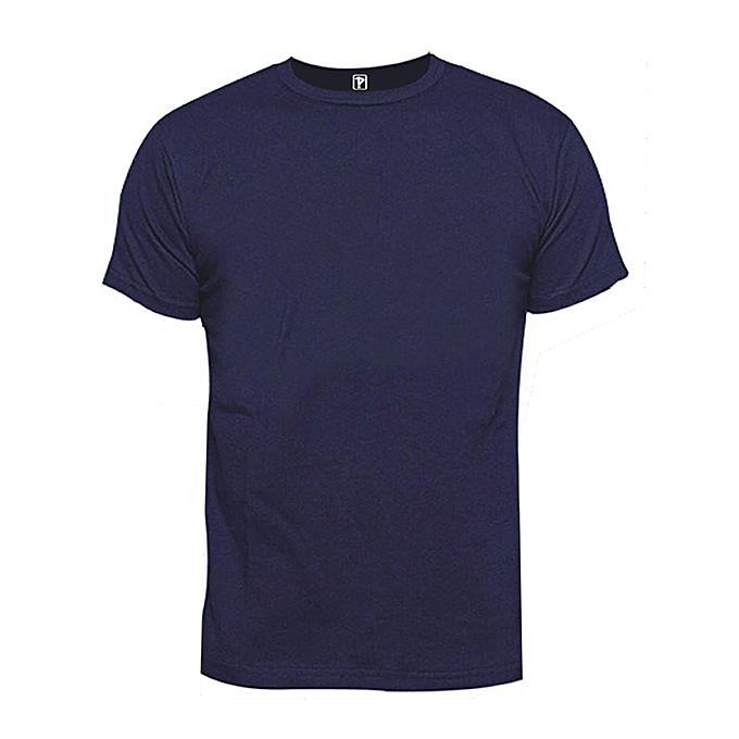 Priddi international Blank T-shirt - Navy Blue | Jumia.com.ng