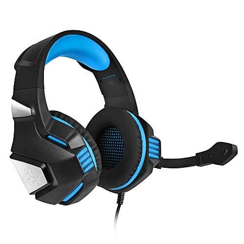 V - 3 3.5mm Headsets Bass Gaming Headphones For Mobile Phone With Mic - Blue