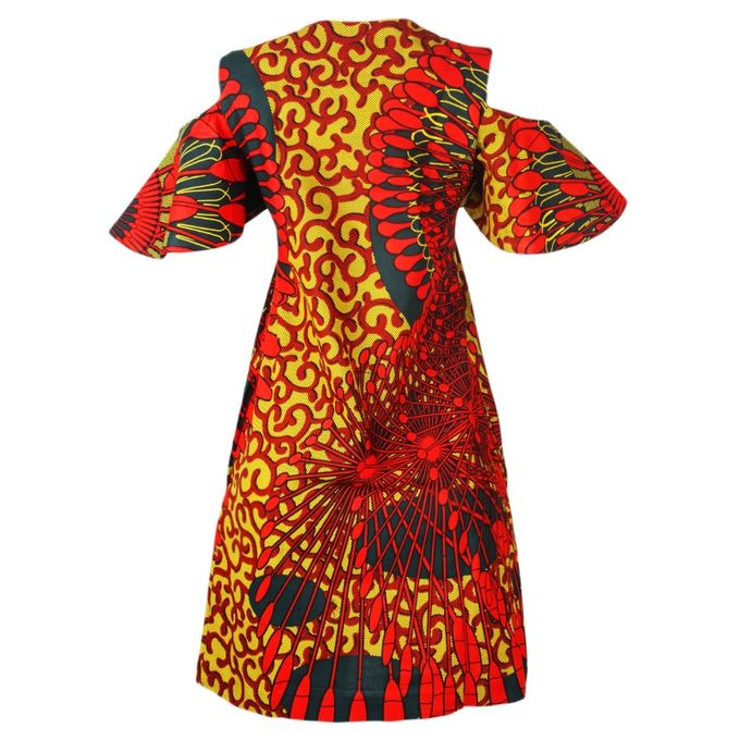 Loam Ankara Cold Shoulder Midi Dress- Multicolour | Buy online ...