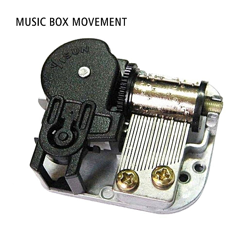 18 Note Windup Music Box Musical Movements Part With Screws Winder DIY Music Box Many Songs For Choose