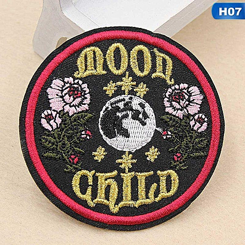 Eleganya Fashion Circular Creativity Exquisite Cute Style Embroidery Cloth Stickers H07