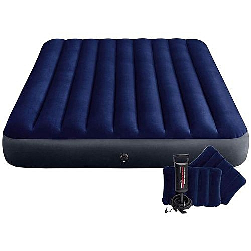 2 In 1 Air Bed With Free Pump & Two Pillows