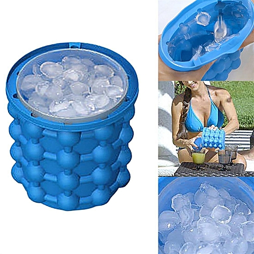 Ice Cubes Maker Dual Chambers Silicone Ice Cubes Maker Mold