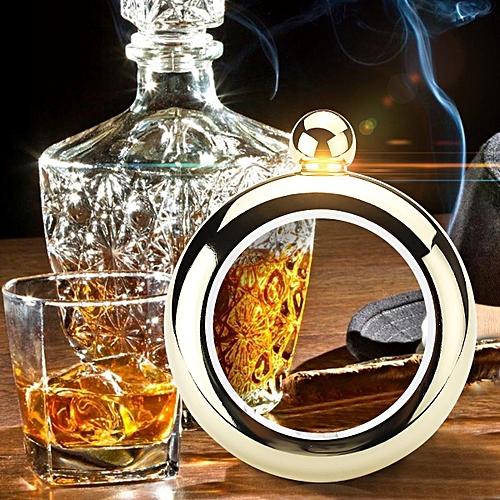 3.5oz 304 Food Grade Stainles Bangle Bracelet Hip Flask Alcohol Drinkware Flagon