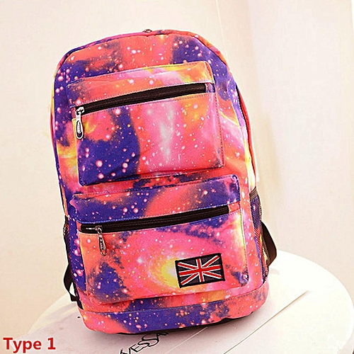 Travel Women Men Canvas Galaxy Backpack Rucksack Shoulder School Bag Satchel Hot