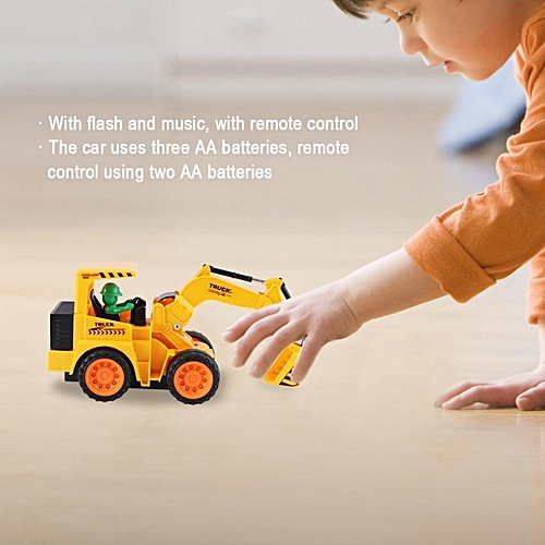 【Big Sale】Engineering Vehicle Model Free Wheel Diecast Toys Car Children With Remote Control