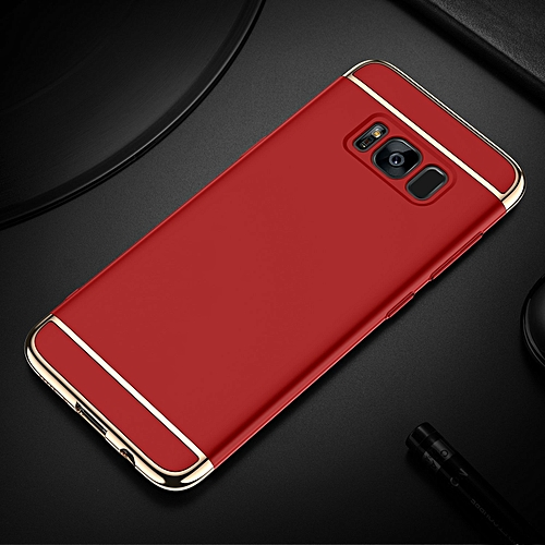 SAMSUNG S8 CASE,3 In 1 Protection Case For SAMSUNG S8---RED