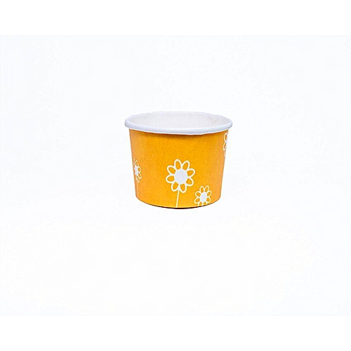 40pcs × Yellow Baking Cup Cupcake Muffin Ice Cream Papercups