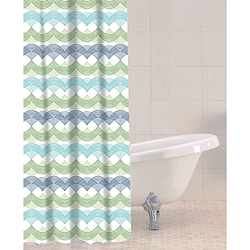 Waves Peva Shower Curtain