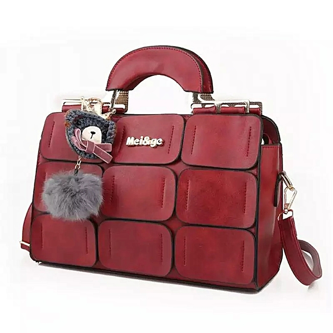 Luxury Handbags Women Leather Bag Designer Handbag High Quality Women Bag  Fashion Crossbody 2018 RED  031137e543
