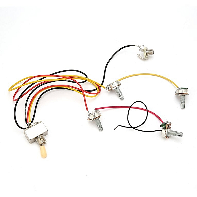 1 full set lp sg electric guitar pickup wiring harness potentiometers  kit multicolor